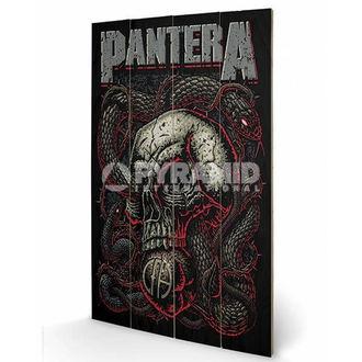 dřevěný obraz Pantera - Snake Eye - PYRAMID POSTERS