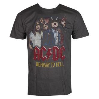 tričko pánské AC/DC - Vintage Highway - Charcoal - LIVE NATION, LIVE NATION, AC-DC