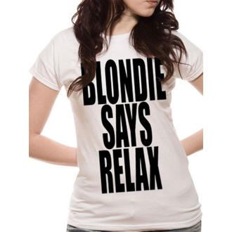 tričko dámské Blondie - Says Relax - White - LIVE NATION, LIVE NATION, Blondie
