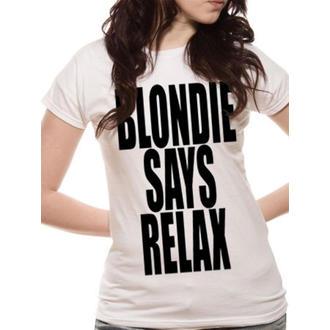 tričko dámské Blondie - Says Relax - White - LIVE NATION - PE10717SKW