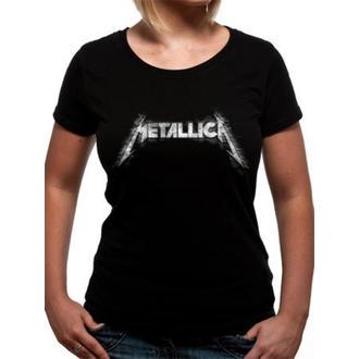 tričko dámské Metallica - Spiked Logo - Black - TMTL0170