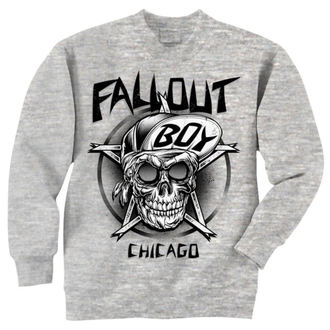 mikina pánská Fall Out Boy - Skull - Grey - LIVE NATION, LIVE NATION, Fall Out Boy