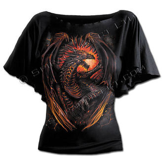 tričko dámské SPIRAL - Dragon Furnace - Black