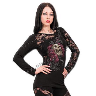 tričko dámské s dlouhým rukávem SPIRAL - Rose Skull - T081F439