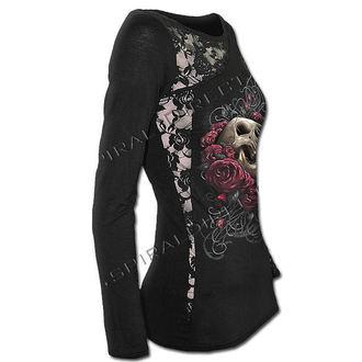tričko dámské s dlouhým rukávem SPIRAL - Rose Skull