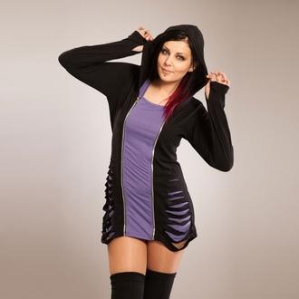 mikina dámská POIZEN INDUSTRIES - Bound - Black/Purple