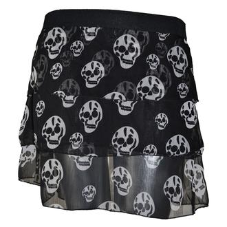 sukně dámská POIZEN INDUSTRIES - Skull - Black - POI020