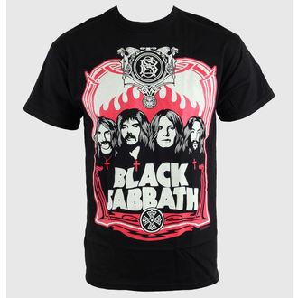 tričko pánské Black Sabbath - Red Flames - Blk - BRAVADO, BRAVADO, Black Sabbath