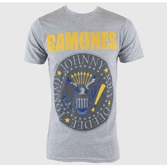 tričko pánské Ramones - Y&B Seal - Heather Grey - BRAVADO