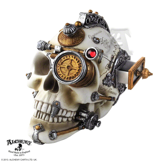 dekorace Alchemy Gothic - Erasmus Darwin´s Steam-Cerebrum Skull, ALCHEMY GOTHIC