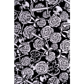 šaty dámské HELL BUNNY - Avalon Mini - Blk/Wht - 4306