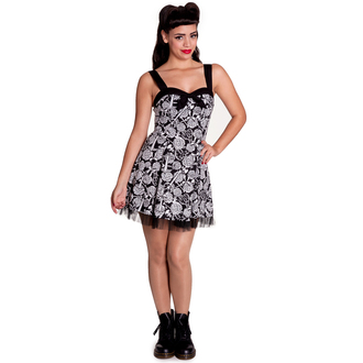 šaty dámské HELL BUNNY - Avalon Mini - Blk/Wht, HELL BUNNY
