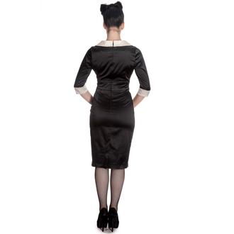 šaty dámské HELL BUNNY - Moneypenny - Blk/Ivory - 4296