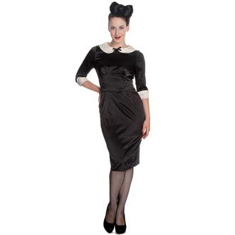šaty dámské HELL BUNNY - Moneypenny - Blk/Ivory, HELL BUNNY