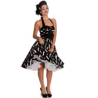 šaty dámské HELL BUNNY - Bat 50´s - Blk/Wht