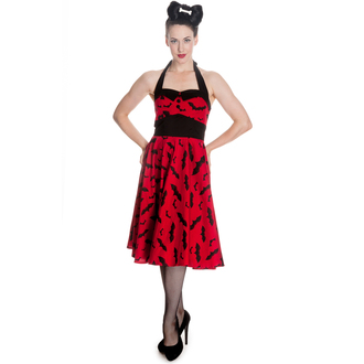 šaty dámské HELL BUNNY - Bat 50´s - Red/Blk, HELL BUNNY