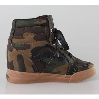 boty dámské VANS - SK8-HI Wedge (Camo) - Military