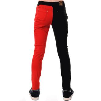 kalhoty pánské 3RDAND56th - Split Leg Skinny - Blk/Red - JM1249