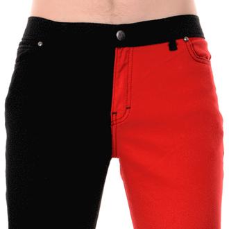 kalhoty pánské 3RDAND56th - Split Leg Skinny - Blk/Red