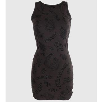 šaty dámské SANTA CRUZ - Tattoo - Vintage Black - GTD
