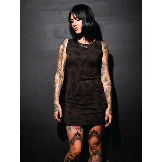 šaty dámské SANTA CRUZ - Tattoo - Vintage Black, SANTA CRUZ