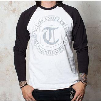 tričko pánské s dlouhým rukávem Terror - Badge - White/Black - BUCKANEER - 1491