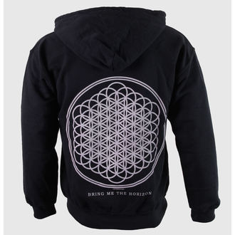 mikina pánská Bring Me The Horizon - Flower Of Life Zip - Blk - ROCK OFF, ROCK OFF, Bring Me The Horizon