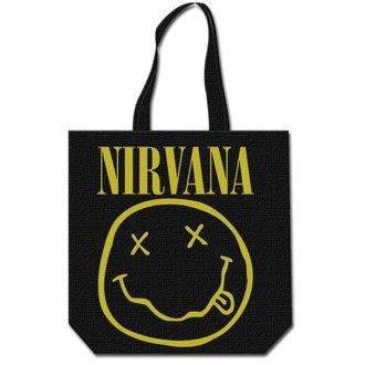 taška (kabelka) Nirvana - Smiley & Logo - ROCK OFF - NIRVTOTE01