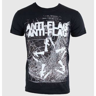 tričko pánské Anti-Flag - Gun Star Map - Black - KINGS ROAD, KINGS ROAD, Anti-Flag