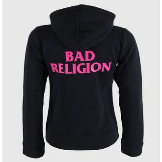 mikina dámská Bad Religion - Hot Pink - Black - KINGS ROAD