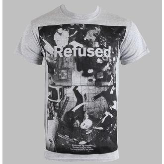tričko pánské Refused - Live Photo - Heather Gray - KINGS ROAD - 01634