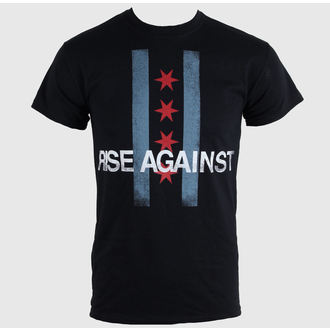 tričko pánské Rise Against - Flag - Black - KINGS ROAD - 43674