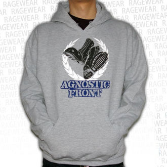 mikina pánská Agnostic Front - Against The World - Grey - RAGEWEAR, RAGEWEAR, Agnostic Front