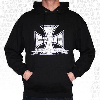 mikina pánská Agnostic Front - Iron Cross - White - RAGEWEAR, RAGEWEAR, Agnostic Front