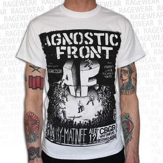tričko pánské Agnostic Front - Old School - White - RAGEWEAR, RAGEWEAR, Agnostic Front