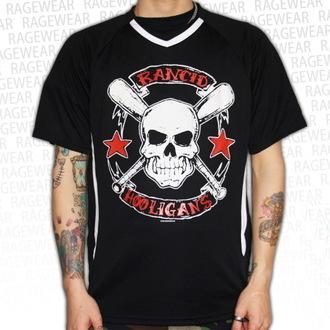 tričko pánské (dres) Rancid - Hooligans Big Skull - Black - RAGEWEAR, RAGEWEAR, Rancid