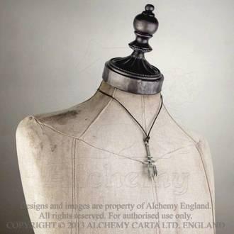 obojek Black Trinity Trident - ALCHEMY GOTHIC - P686