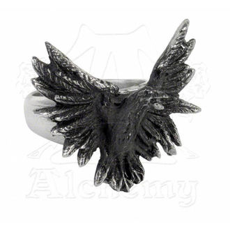 prsten Flocking Raven - ALCHEMY GOTHIC