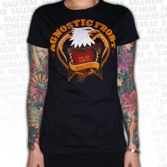 tričko dámské  Agnostic Front - Old School Heart - Black- RAGEWEAR - 001GSS67