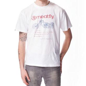tričko pánské MEATFLY - WISHLIST A - White