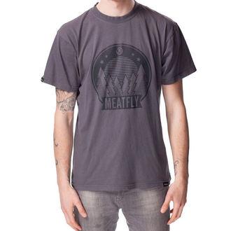 tričko pánské MEATFLY - CAMPING A - Gunmetal
