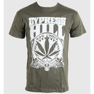 tričko pánské Cypress Hill - 420 2013 - Khaki - BRAVADO EU, BRAVADO EU, Cypress Hill