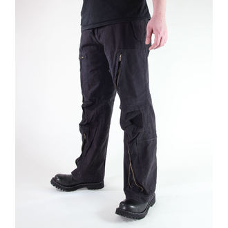 kalhoty pánské MIL-TEC - Fliegerhose - Prewash Black, MIL-TEC