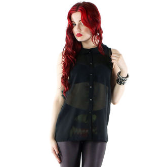 košile dámská IRON FIST - Spineless Peter Pan Collar - Black, IRON FIST