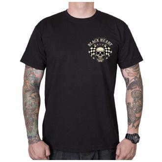 tričko pánské BLACK HEART - STARTER - BLACK, BLACK HEART