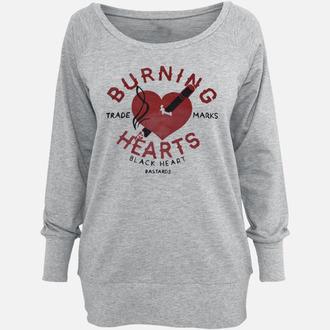mikina dámská BLACK HEART - Burning