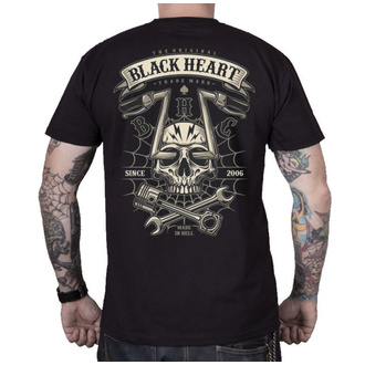tričko pánské BLACK HEART - CHOPPER SKULL - BLACK, BLACK HEART