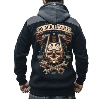 mikina pánská BLACK HEART - CHOPPER SKULL RG - BLACK, BLACK HEART