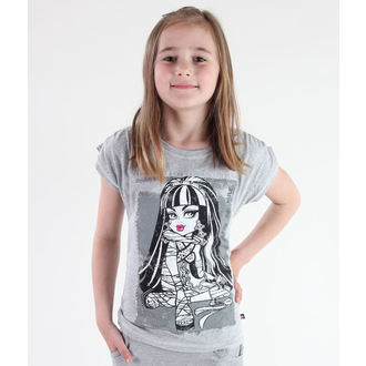 tričko dívčí TV MANIA -  Monster High - Grey- MOH 523