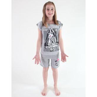 tričko dívčí TV MANIA -  Monster High - Grey- MOH 523